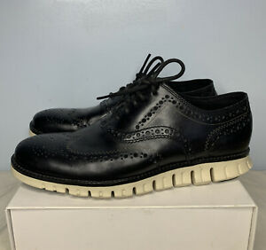 Cole Haan Zerogrand Wingtip Oxford Mens Sz 7 M Black Lace Up Shoes C20720