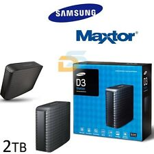 "HARD DISK ESTERNO 3,5"" 2 TB SAMSUNG/MAXTOR STSHX-D201TDB D3 STATION 5 Gbps USB3"