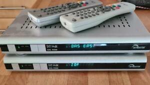 2x Skymaster DXL9500 Sat-Receiver mit FB und Sendernamen-Anzeige