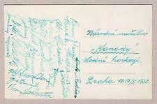 1939 TRAIL SMOKE EATERS Canada Ice Hockey WORLD CHAMPIONS Autographs + BUCKNA