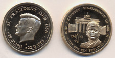 Medaille John F Kennedy mit Brandenburger Tor