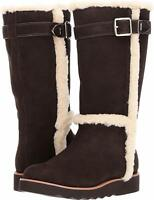 Coach Belmont Suede Leather Boots Chestnut Cold Winter Plush SIZE 8.5, 9,  10 M