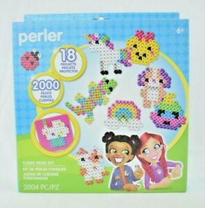 Perler - Fun With Beads Kit - 2004 Pieces - Fused Bead Kit - 18 Projects (New)