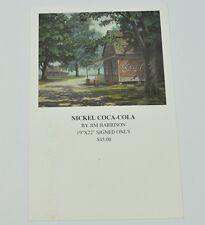 Coca-Cola Coca cola USA collezione - mappa Cartolina Postale - Nichel Coca-Cola