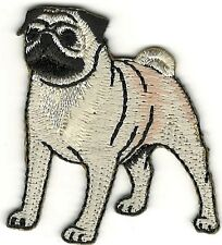 """2"""" Realistic Pug Dog Breed Canine Embroidery Patch"""