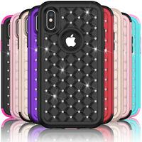 For Apple iPhone X 10 Fashion Glitter Bling Diamond Women Phone Case Cute Cover