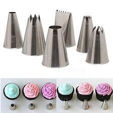 6PCS Cake Icing Piping Nozzles Tips Fondant Cupcake Sugarcraft Decorating Sets