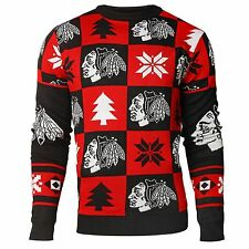Chicago Blackhawks Ugly Sweater Crewneck  NHL 2016 Patches All Sizes