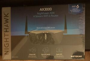 NETGEAR Nighthawk AX3000 4-Stream Dual-Band Wi-Fi 6 Router