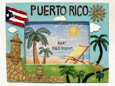 PUERTO RICO GARITA OLD SAN JUAN TABLE PHOTO FRAME BLUE SOUVENIRS 7x9 4photos 6x4