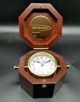 Howard Miller Chronometer 645-187 Cherry Finish Weather Maritime Table Clock BOX
