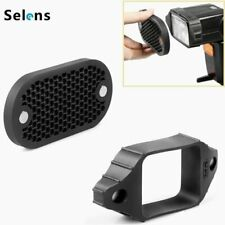 Selens Magnetic Flash Modifier Rubber Band Grip + Honeycomb Grid for Speedlight