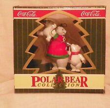 """Coca Cola Polar Bear Collection """"Family Fun Time"""" Christmas Ornament 1996"""