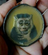 Rare Vintage 20's DRGM Germany Dexterity Game Monkey Advertising Whiskey