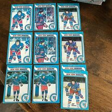 1979-80 O-PEE-CHEE NEW YORK RANGERS 16 card  lot- MULTIPLES