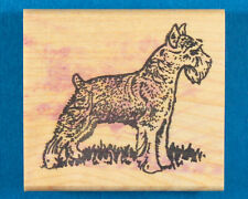 Schnauzer Dog Rubber Stamp by The Stamp Pad Co - Standing Side View