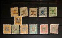 Islandia 1900-1907 lote sellos oficiales MH