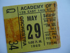 ROLLING STONES__1965__Original CONCERT TICKET STUB__Academy of Music__NYC__VG+