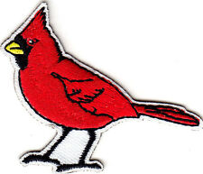 RED CARDINAL -  BIRDS - WINTER - Iron On Embroidered Patch
