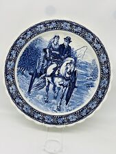 More details for fabulous large delft style charger blue and white 16.5 inch diameter topimpex