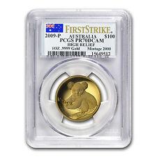 2009-P Australia 1 oz Gold Koala PR-70 PCGS (FS, High Relief) - SKU #58805