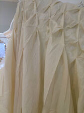 "BEAUTIFUL EX LONG CREAM CURTAIN PANEL 100% COTTON 100"" long  45"" Wide SMOCKED"