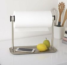 Umbra LIMBO PAPER TOWEL HOLDER with TRAY Kitchen Roll Holder NICKEL