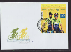 Slovenia 2020 FDC - Slovenia´s Tour de France Heroes - with m/sheet