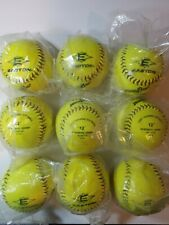 "Easton Incrediball SofTouch 12"" Yellow Training Softballs - Lot of 9"