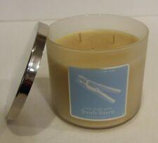Bath Body Fresh Linen Candle Ebay