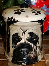 Custom memorial Pet Dog mastiff bull cremation urn all breed types portrait jar