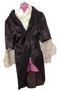 Theatre Period 18th Century Jacket Adam Ant Prince Ruffle Lace Fancy Dress Up