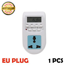 EU PLUG 2200W 10A Indoor Power 24-Hour Mechanical Segment Timer Socket NEW