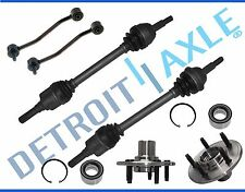 6pc Rear Left and Right CV Axle Shaft + Wheel Bearing and Hub Assembly - 5 lug