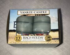 YANKEE CANDLE TEALIGHTS BEACH HOLIDAY - NEW BOX OF 12 VERY HARD TO FIND!