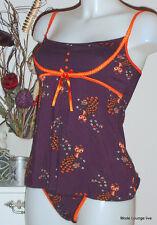 Pussy Deluxe sous-vêtements TOP + SLIP JEAN Modal S 36 violet Chemise de nuit