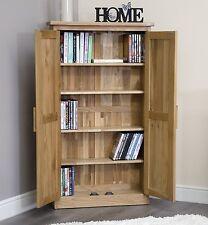Arden solid oak furniture CD DVD storage cabinet cupboard rack unit