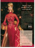 1998 Magazine Print Advertisement Page Holiday Gift Barbie Doll Christmas Ad