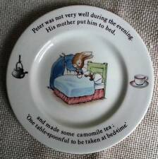 """Wedgewood England Peter Rabbit in Bed Chamomile Tea 6.75"""" Porcelain Plate - MINT"""
