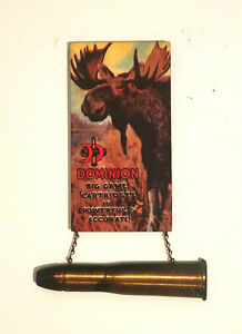 1920's DOMINION BIG GAME CARTRIDGES (Canadian) with Bull Moose