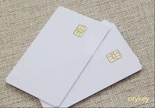 100 PCs Contact IC card SLE4442 Chip Smart Card PVC White No Printing