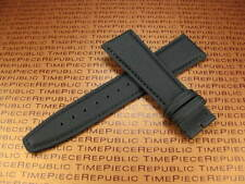 21mm IWC Black Leather Strap TOILE Kevlar Fabric Watch Band PILOT Top Gun 21