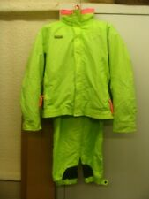 Columbia BUGABOO neon yellow ski suit mens LARGE jacket & MEDIUM pants w/hat