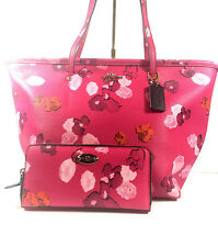"""Coach """"City Floral"""" Tote and Wallet Set- NWT  570.00"""