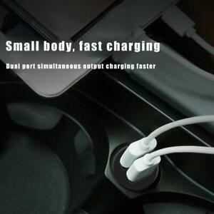 Car Charger Mini Dual USB 12v Lighter Socket Adapter usb twin fast plug D9B0