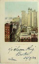 USA postcard: Up Broadway NY 1903