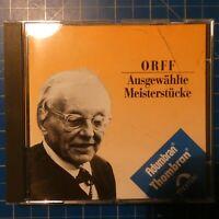 Orff Ausgewählte Meisterstücke Antal Dorati Thomae DECCA 440198-2 CD68