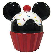 Disney Mickey Mouse Cupcake Ceramic Westland Cookie Jar #18973