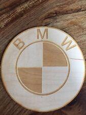 Cartello in legno arredamento BMW 15cm
