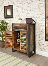 Urban Chic Furniture Reclaimed Wood Shoe Storage Cabinet Steel Frame